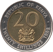 20 shillings Arap Moi -  avers