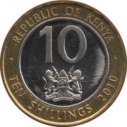 10 shillings (Magnétique) -  avers