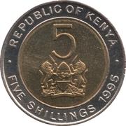 5 shillings Arap Moi -  avers
