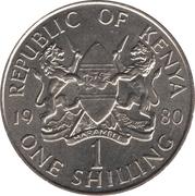 1 shilling Arap Moi (non-magnétique) -  avers