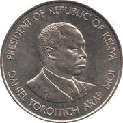 1 shilling Arap Moi (non-magnétique) -  revers