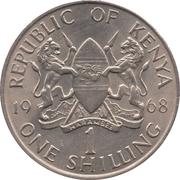 1 shilling Jomo Kenyatta (sans légende) -  avers