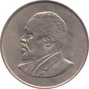1 shilling Jomo Kenyatta (sans légende) – revers