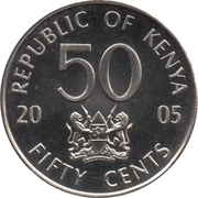 50 cents Jomo Kenyatta – avers
