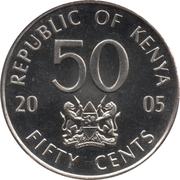 50 cents Jomo Kenyatta – avers
