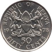 50 cents Jomo Kenyatta (avec légende) – avers