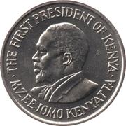 50 cents Jomo Kenyatta (avec légende) – revers