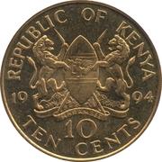 10 cents Arap Moi (magnétique) – avers