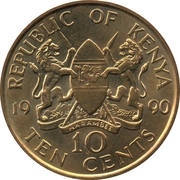 10 cents Arap Moi (Non-magnétique) – avers