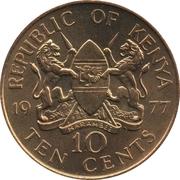 10 cents Jomo Kenyatta (avec légende) – avers