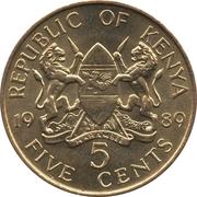 5 cents Arap Moi – avers