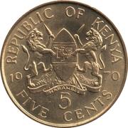 5 cents Jomo Kenyatta (avec légende) – avers