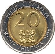 20 shillings (magnétique) – avers