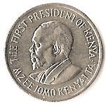 25 cents  Jomo Kenyatta (avec légende) – revers