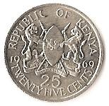 25 cents  Jomo Kenyatta (avec légende) – avers