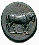 Bronze Æ11 (Keramos) – avers