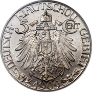 5 cents / 5 fen Wilhelm II -  revers