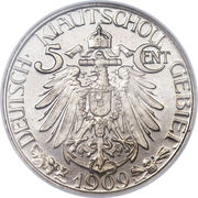 5 cents - Wilhelm II (Occupation allemande) – revers