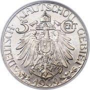 5 cents - Wilhelm II – revers