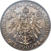 10 cents - Wilhelm II – revers
