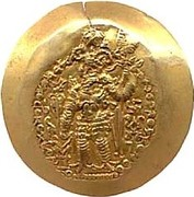 Dinar - Varahan Kushanshah II - Peroz III (3rd version, Kushano-Sassanian style, unknown mint) – avers