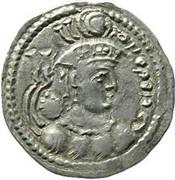 Drachm - Hunnic tribes Kidarites - Peroz (Sassanian style, Shapur III imitation, Kapisa-Gandhara mint) – avers