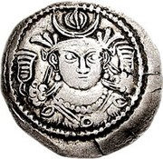 Drachm - Kidarites - Anonymous (Sassanian style, type 15, King B, unknown mint) – avers