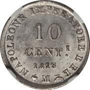 10 centesimi - Napoléon I – revers