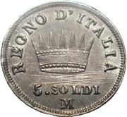 5 soldi - Napoléon I – revers