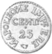 25 Centesimi - Palmanova - Siege coinage – avers