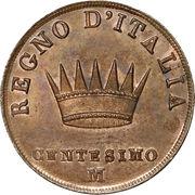 1 centesimo - Napoléon I – revers