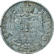 1 lira - Napoléon I – revers