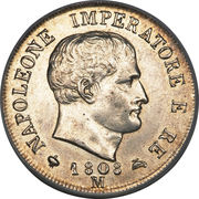 2 lire - Napoleon I – avers