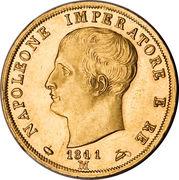 40 lire - Napoleon I – avers