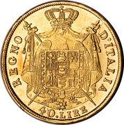 40 lire - Napoleon I -  avers
