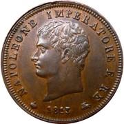 1 soldo - Royaume de Napoléon - 2ème type – avers