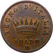 1 soldo - Royaume de Napoléon - 2ème type – revers