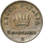 3 centesimi - Napoléon I – revers