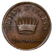 2 centesimi 1806 Milan – revers