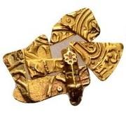 Gold Bezant fragments - Anonymous (Crusader imitation) – avers