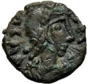 1 nummus Gunthamund (Carthage; Chi Rho régulier avec points) – avers