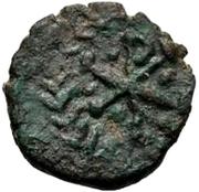 1 nummus Gunthamund (Carthage; Chi Rho régulier avec points) – revers