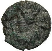 1 nummus Gunthamund (Carthage; Chi Rho régulier avec pétales) – avers