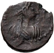 1 nummus Thrasamund (Carthage) – avers