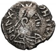 25 denarii Gunthamund (Carthage; valeur régulière avec ligne) – avers