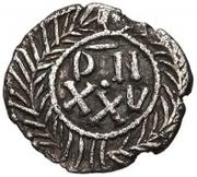 25 denarii Gunthamund (Carthage; valeur régulière avec ligne) – revers