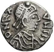 25 denarii Gunthamund (Carthage; valeur régulière sans ligne) – avers
