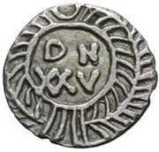 25 denarii Gunthamund (Carthage; valeur régulière sans ligne) – revers