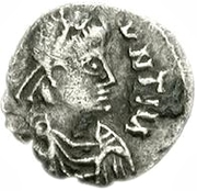 25 denarii Gunthamund (Carthage; valeur inversée) – avers