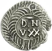 25 denarii Gunthamund (Carthage; valeur inversée) – revers